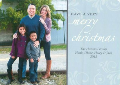Xmas card for gallery home page